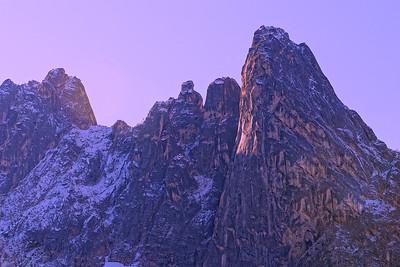 Liberty Bell Mountain at Washington Pass - North Cascades Highway.