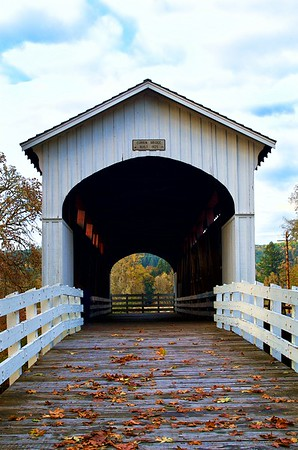 Currin Bridge built in 1926 - Cottage Grove, Oregon