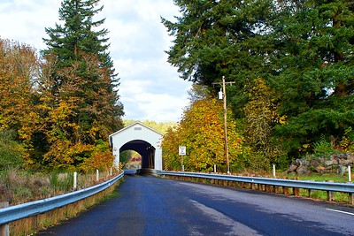 Mosby Creek Bridge built in 1920 - Cottage Grove, Oregon