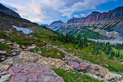 Logan Pass in Glacier National Park, Montana.