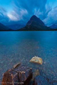 Swiftcurrent Lake in Glacier National Park, Montana.
