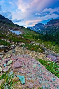 Logan Pass in Glacier National Park, Montana.