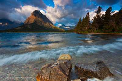 Swiftcurrent Lake in Glacier National Park, Montana.