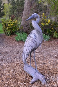 Another angle of the Heron statue