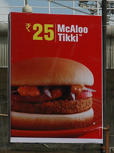 McDonalds banners on Brigade Road.
