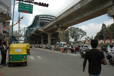 MG Road, looking west from Cauvery