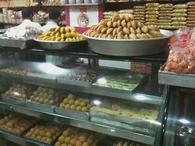 Sweets in a Delhi sweet shop.