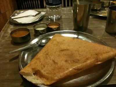 Dosa at Karnataka restaurant, south Delhi