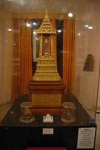 National Museum: sacred corporeal relics of Budda, with decorative case