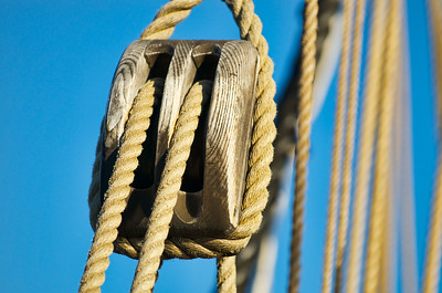 Rope and Pully on the Lady Washington