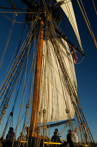 Rigging and sails on the Lady Washington
