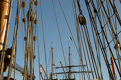 The rigging on the Lady Washington tall ship