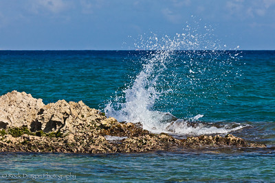 The Caribbean Sea from the shores near Playa del Carmen.