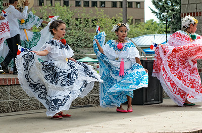 Young Pamama dancers at a festival in Lacey, Washington