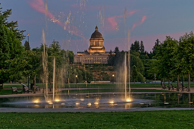 Capitol Dome at Dusk - Olympia, Washington