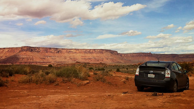 The Prius makes it's first trip to Southern Utah Canyonlands National Park