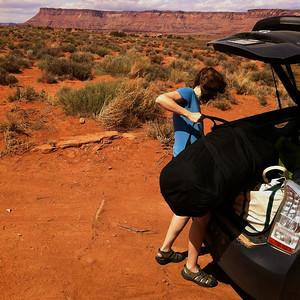 Camping on BLM land near Canyonlands Canyonlands National Park