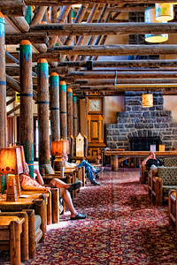 The lobby of the newly restored Paradise lodge.
