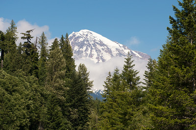 The view of Mt Rainier as we're driving up to Paradise.