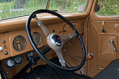 Inside of 1939 Ford Pick-up we saw for sale on the way to Mt Rainier