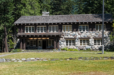 Park offices at Longmire in Mt Rainier National Park