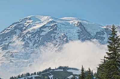 Another view of the mountain from the Paradise area of Mt Rainier National Park.