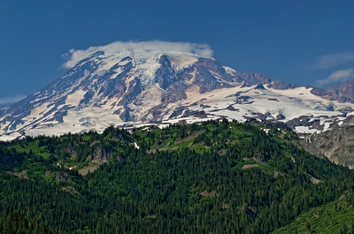 Mt Rainier from an overlook on the road to Ohanapakosh