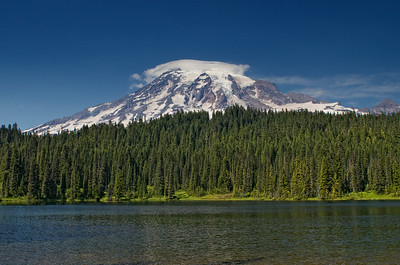 Mt Rainier and Reflection Lake.