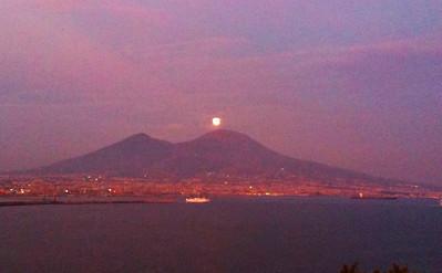 Moonrise and Vesuvius