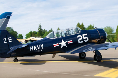 SNJ - this is the US Navy's designation for the North American advanced trainer designated AT-6 by the US Army Air Force.