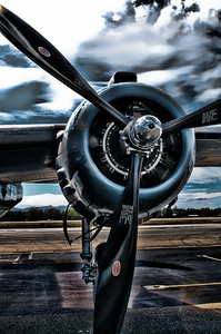 North American B-25 Mitchell Engine and Prop