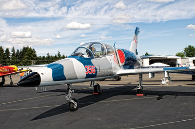 L-39 Albatros - The Aero L-39 Albatros is a high performance, jet trainer aircraft. It was developed in Czechoslovakia to replace the L-29 Delfin. The L-39 was the very first turbofan-powered trainer. The trainer is stilled produced as the more advanced L-159 Alca. There are more than 2,800 L-39s belonging to more than 30 air forces world wide. The L-39 is very versatile from light attack missions to basic and advanced pilot training—it is the most widely used jet trainer in the world.