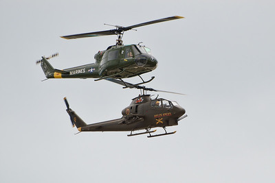 UH-1 Huey Helicopter and AH-1 Cobra Helicopter