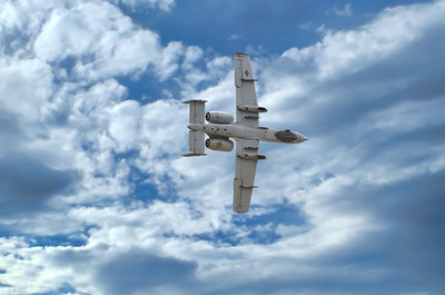 The Fairchild Republic A-10 Thunderbolt II - also known as the Warthog.