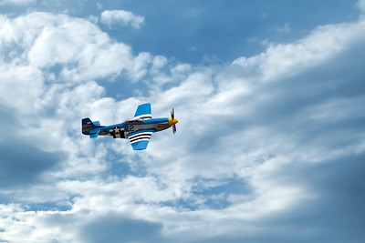 P-51D Mustang takes to the air.