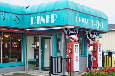 Outside the Hi-Way 101 Diner
