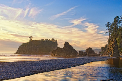 Sunset at Ruby Beach, Washington Coast