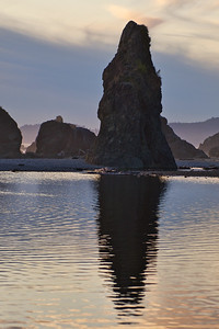 A haystack rock at Ruby Beach