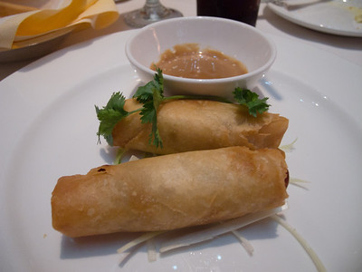 Crispy Spring Rolls with Peanut Sauce - Day 1 Dinner