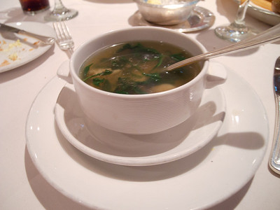 Spinach Crabmeat and Shrimp Soup
