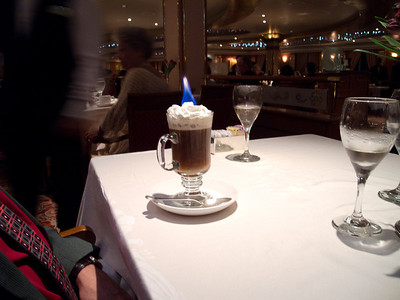 Flaming Irish Coffee - Special Drink offer
