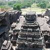 054 - Ellora, Main Temple, view from above
