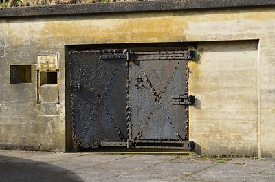 Iron doors at Fort Canby.