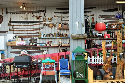 A real collection of junk at Ugly Ed's in Raymond, WA
