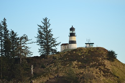 Cape Disappointment Lighthouse from the North Jetty road.