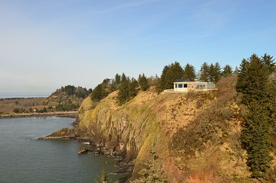 Lewis and Clark Interpretive Center from Cape Disappointment Lighthouse.