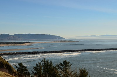 The mouth of the Columbia River from Cape Disappointment Lighthouse.