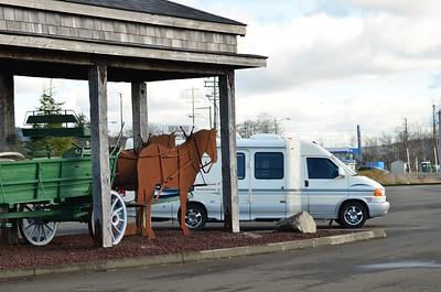 Romona parked at Raymond, WA