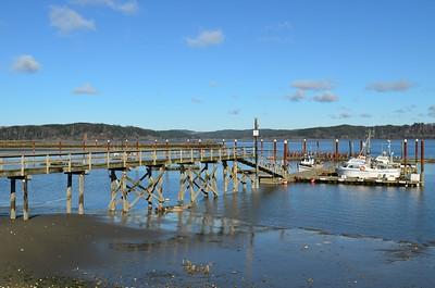 Boat Dock with crab pots, Tokeland, Wa