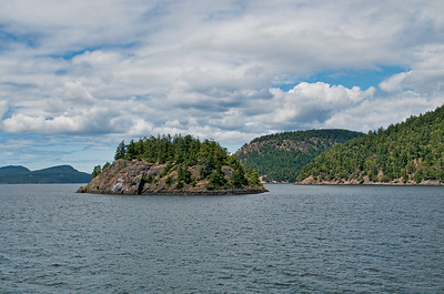 Small island along the ferry route in the San Juan Islands